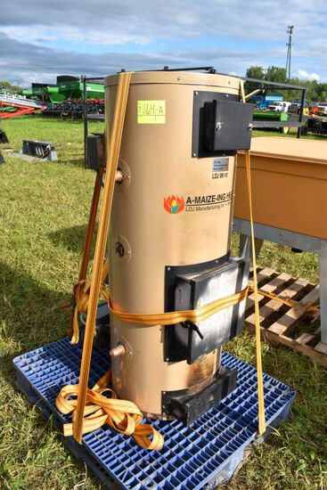 A-Maize-Ing Boiler, Model LDJ 991-10 With  Corn Pellet Bin Hopper