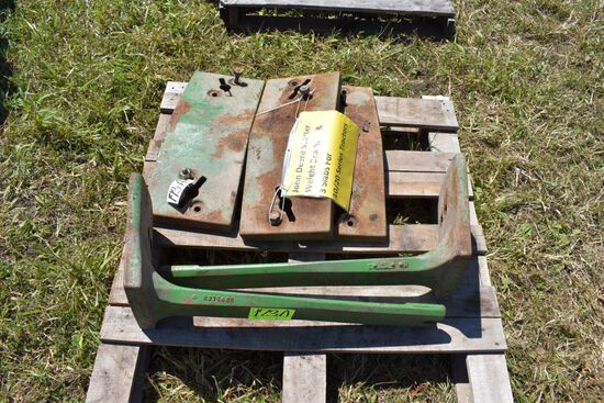 John Deere Starter Weight Brackets & 3 Slabs  For 10/20 Series Tractors