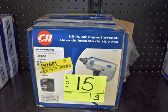 Campbell Hausfeld 1/2'' Air Impact Wrench, 250Ft LBs Torque, Open Box Store Return, Selling 3x$