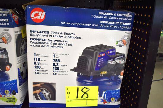 Campbell Hausfeld 1 Gallon Pancake Air Compressor, 110 PSI, 120volt, .51CFM @40PSI, Open Box Store R