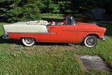 1955 Chevy Belair Convertible Red & White 2 Tone With Matching Interior, 265V8, Auto, Power Steering
