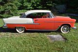 1955 Chevy Belair 2-Door Hardtop, Red & White, 2 Tone Matching Interior, 265V8, 3 Speed Stick, 2652