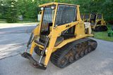 ASV Posi-Track MD70 Diesel Skid Loader, Aux Hyd., Cab, Heat, High & Low Flow, 1081 Hours, 70hp, 18