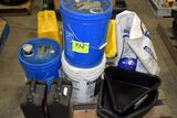 Pallet of Motor Oils, Poly Oil Drain Pans