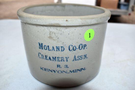 Moland Co-Op Creamery,Kenyon Mn Butter Tub