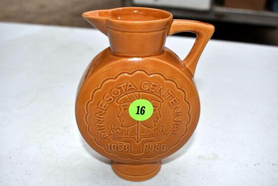 Rosemeede Minnesota Centennial 1858-1958 Pitcher