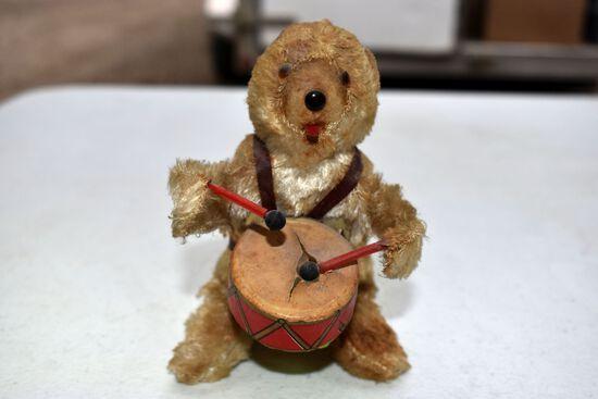 Windup Bear Playing Drum