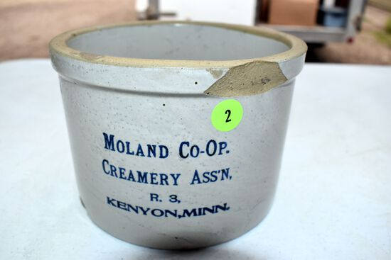 Moland Co-Op Creamery,Kenyon Mn Butter Tub With Chips