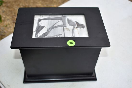 Wooden Photo Box With Nude Pictures