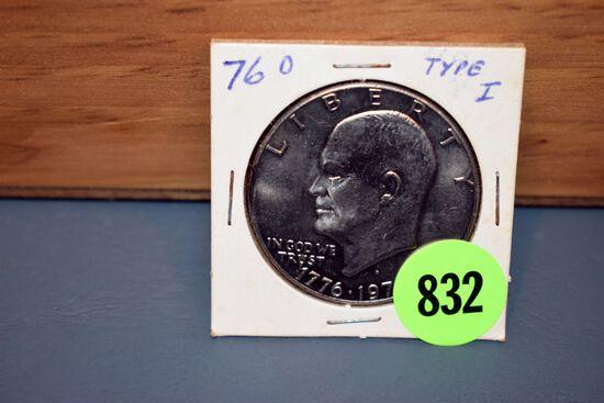 1976 Type I Eisenhower Dollar