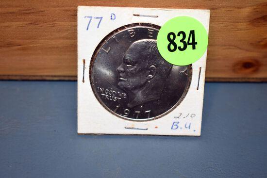 1977D Eisenhower Dollar