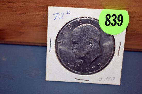 1972D Eisenhower Dollar
