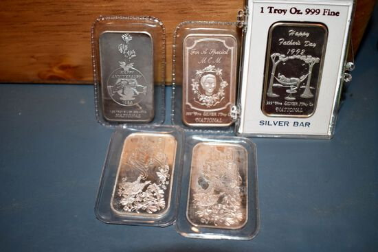5 1 Troy Once Silver Bars, Fathers Day,Mothers Day, Happy Anniversary, selling 5x$