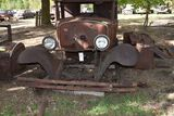 Ford Model A pickup frame, body, and front fender