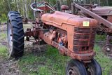 Farmall h narrow front, good rear rubber, non running