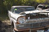 1957 Ford Fairlane 500 2 door, cream and white, titled