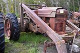 Farmall M with New Idea loader, wide front, with after market 3 point