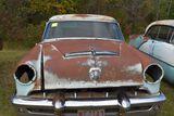 1953 Mercury Monterey  2 door hardtop light blue, missing passenger panel inside, titled
