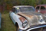1955 Oldsmobile Holiday 4 door, light blue, good trim, good chrome, good glass, good body, no title