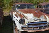 1950 Chevy Deluxe hardtop, green, 2 door, no title