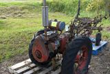Standard Twin garden tractor, self propelled with plow non running