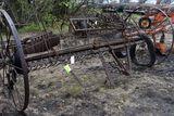 steel wheel dump rake