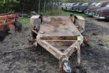 10 ft flat bed trailer, single axle bumper hitch with railroad dollies