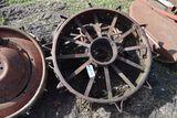 2 Spoke Steel Rear Wheels With Lugs