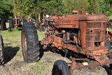 Farmall Super MTA, wide front, rear wheel weights, complete,non running