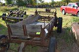 Manure Spreader, 4 wheel, ground driven, wooden