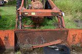 Cockshutt 30 wide front, gas, food farmhand loader hydrau bucket