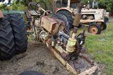 Cockshutt rowcrop diesel, missing hood and front end