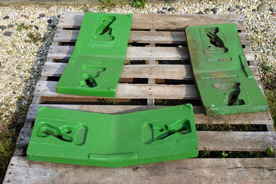 (3) John Deere 10 or 20 Series Slab Weights, Selling 3 x $