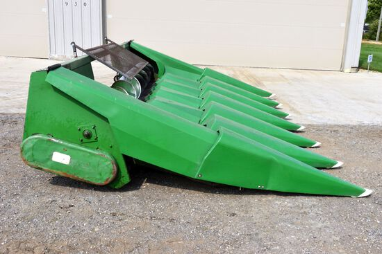 """John Deere 843 Corn Head Converted To 6 Row 30"""", GUL Poly Snouts, Good Rolls, New Gathering Chains,"""
