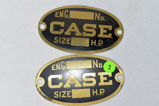 (2) Case engine badges, unused