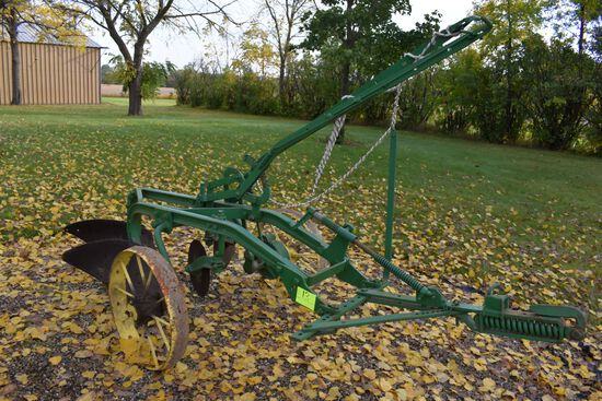 John Deere 2 x 12s Steel Wheels Plow, Mechanical Lift, Restored