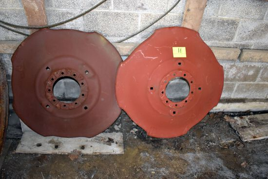 "Pair Of 38"" John Deere Wheel Centers"