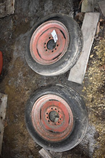 Pair Of 6 Bolt Front Rims & Tires