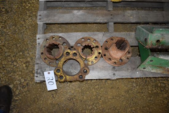 3 John Deere Wheel Hubs & Misc Spacer