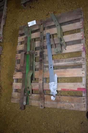 Pallet Of Assorted Draw Bars & Hitches, Most JD