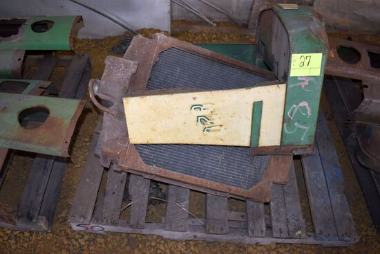John Deere 820 Front Sheet Metal, believed to be a radiator for JD 820