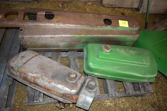 John Deere Hood Tin & 2 Fuel Tanks