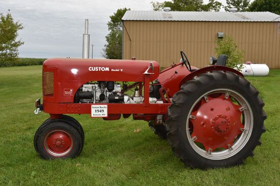 1949 Custom Model B Tractor, N/F, Clam Shell Fenders, New 12.4-38 Tires, 540PTO,Belt Pulley, Fully R