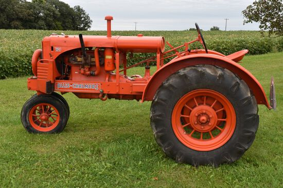 Allis Chalmers WC Tractor, N/F, Front & Rear Round Spoke Rims, Restored, Runs Good, SN: WC77929, Not