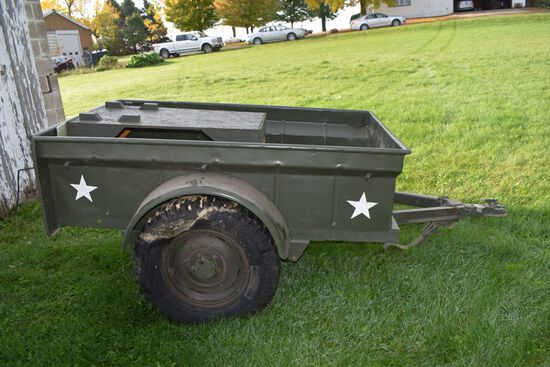 Bantam Model T3-C Single Axle Military Trailer,In Very Good Condition, 4' x 6'