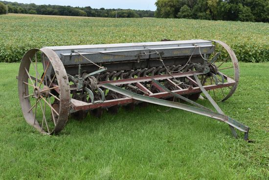 "Minneapolis Moline Steel Wheel Grain Drill Model P3-6, 10' With 6"" Spacings, Grass Seeder, Mechanica"