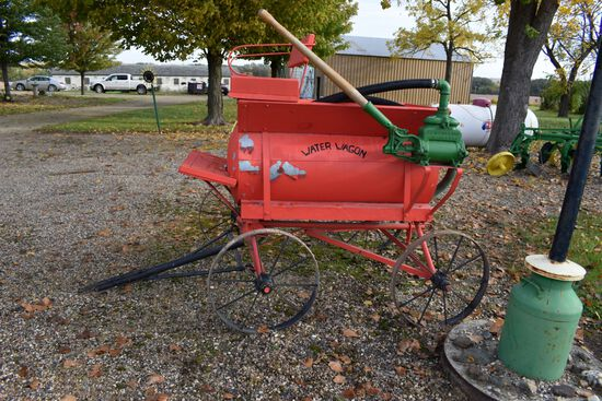 Custom Built Steel Wheel Water Wagon, With F.E. Myers & Bro Water Pump