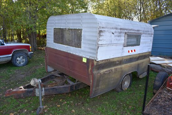 Shop Built, Single Axle, PickUp Box Trailer,Sells With Contents, No Title