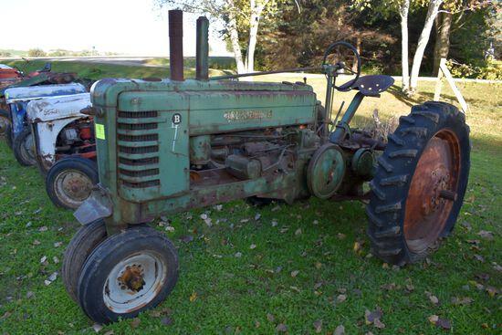 John Deere B Tractor, 540PTO, Missing Some Parts, N/F, Motor Is Free, SN: B81711