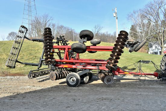 "2011 Case IH 330 Turbo Till Vertical Tillage 25', Single Point Depth Control, Rock Flex, 20"" Turbo C"